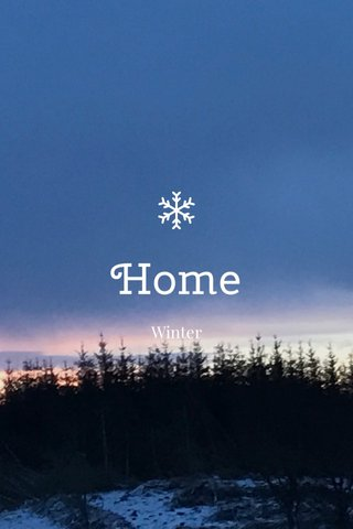 Home Winter