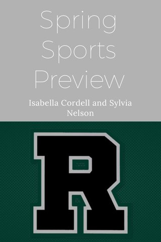 Spring Sports Preview Isabella Cordell and Sylvia Nelson