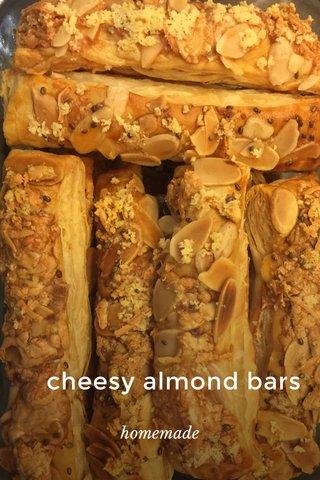 cheesy almond bars homemade