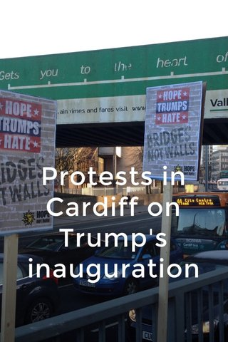 Protests in Cardiff on Trump's inauguration