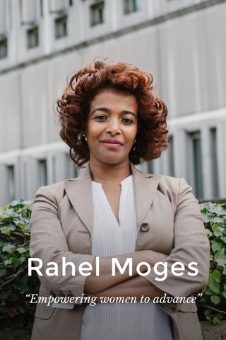 "Rahel Moges ""Empowering women to advance"""