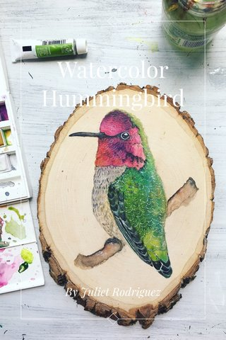 Watercolor Hummingbird By Juliet Rodriguez