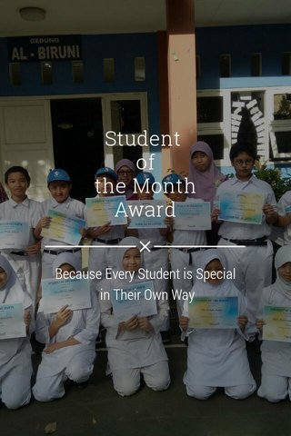 Student of the Month Award Because Every Student is Special in Their Own Way