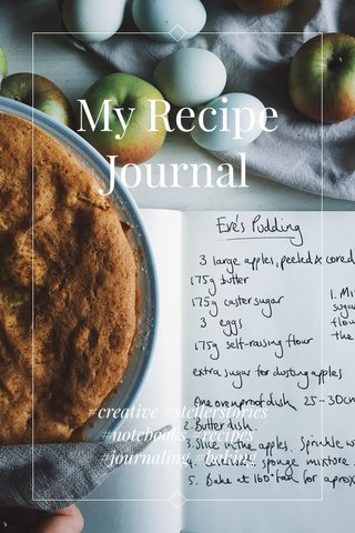 My Recipe Journal #creative #stellerstories #notebooks #recipes #journaling #baking