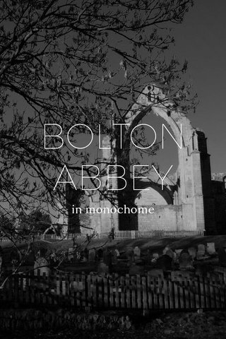 BOLTON ABBEY in monochome