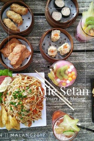 Mie Setan Culinary Kota Malang
