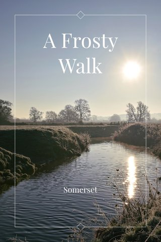 A Frosty Walk Somerset