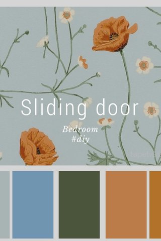 Sliding door Bedroom #diy