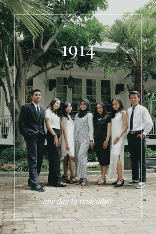 1914 one day to remember