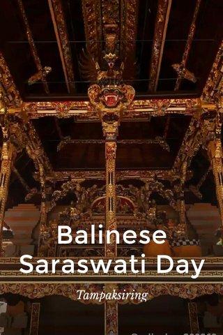 Balinese Saraswati Day Tampaksiring