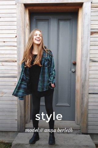 style model // anna berleth