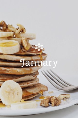 January in food