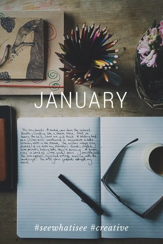 JANUARY #seewhatisee #creative