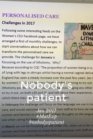 Nobody's patient Jan 2017 #MatExp #nobodyspatient