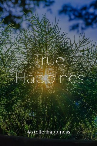 True Happines #stellerhappiness