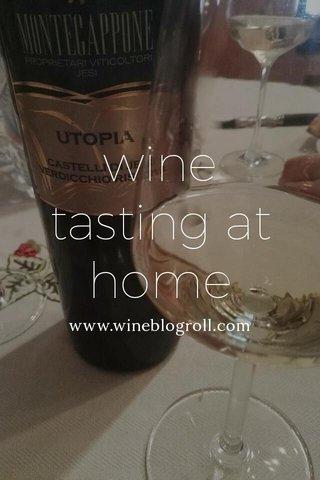 wine tasting at home www.wineblogroll.com