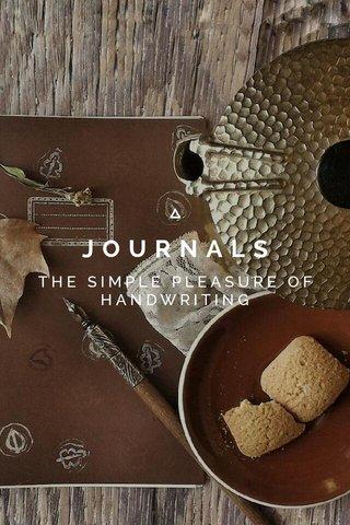 JOURNALS THE SIMPLE PLEASURE OF HANDWRITING