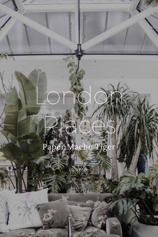 London Places Paper Mache Tiger