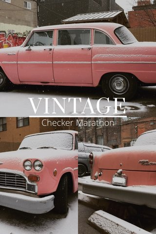 VINTAGE Checker Marathon