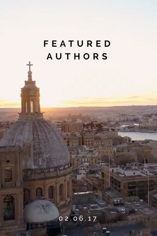 FEATURED AUTHORS 02.06.17