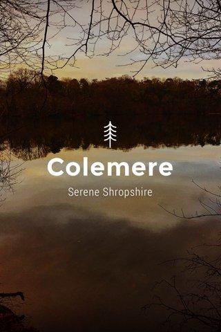 Colemere Serene Shropshire
