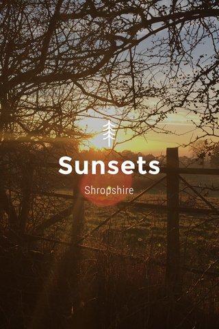Sunsets Shropshire