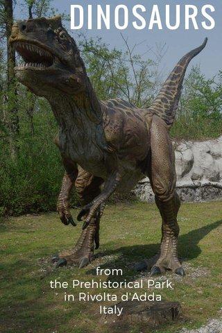 DINOSAURS from the Prehistorical Park in Rivolta d'Adda Italy