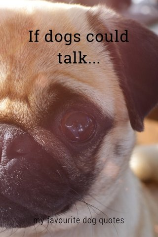 If dogs could talk... my favourite dog quotes