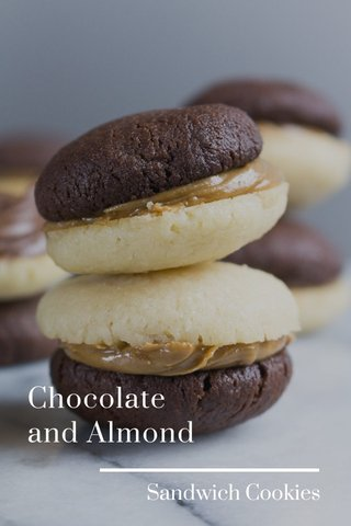 Chocolate and Almond Sandwich Cookies