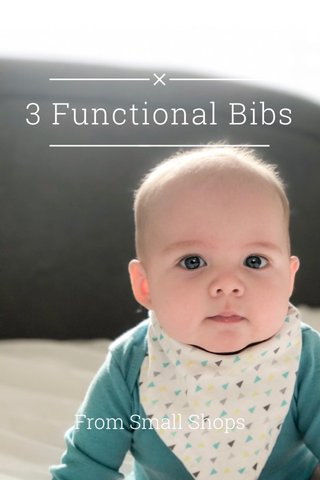 3 Functional Bibs From Small Shops