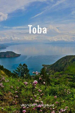 Toba wonderful nature