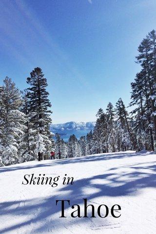 Tahoe Skiing in