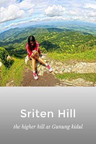 Sriten Hill the higher hill at Gunung kidul