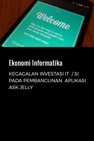 Ekonomi Informatika