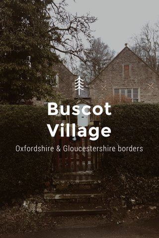 Buscot Village Oxfordshire & Gloucestershire borders