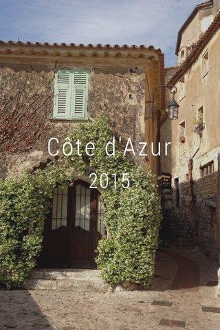 Côte d'Azur 2015