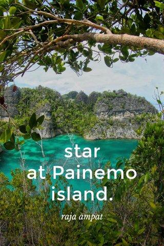 star at Painemo island. raja ampat