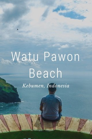 Watu Pawon Beach Kebumen, Indonesia