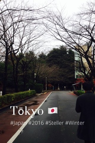Tōkyo 🇯🇵 #Japan #2016 #Steller #Winter