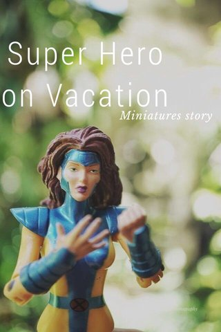 Super Hero on Vacation Miniatures story