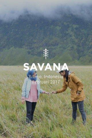 SAVANA Bromo, Indonesia Februari 2017