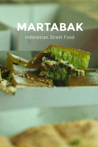 MARTABAK Indonesian Street Food