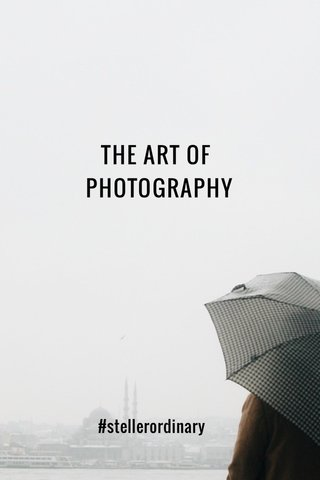THE ART OF PHOTOGRAPHY #stellerordinary