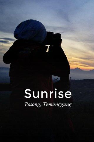 Sunrise Posong, Temanggung