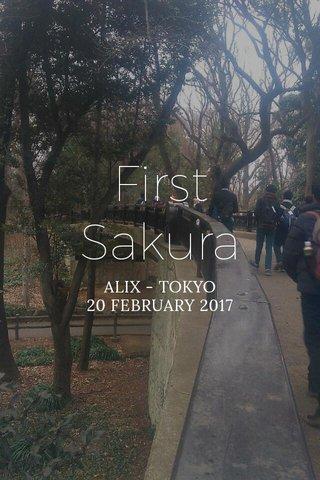 First Sakura ALIX - TOKYO 20 FEBRUARY 2017