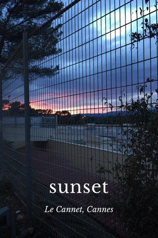 sunset Le Cannet, Cannes