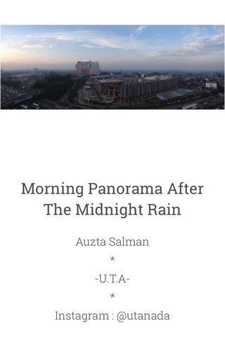 Morning Panorama After The Midnight Rain