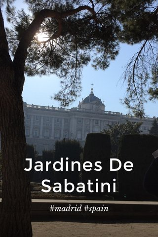 Jardines De Sabatini #madrid #spain