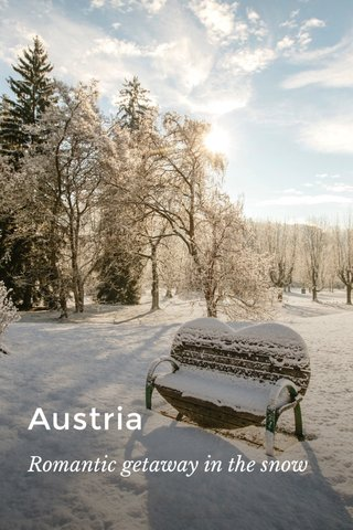 Austria Romantic getaway in the snow