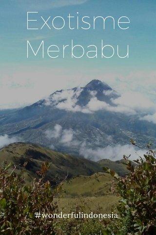 Exotisme Merbabu #wonderfulindonesia
